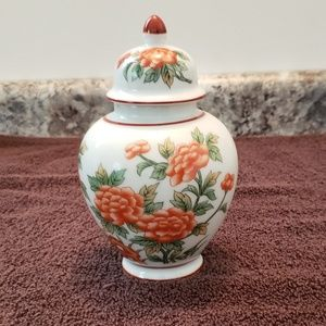 Vintage Andrea by Sadak Ginger Jar with Red Flower